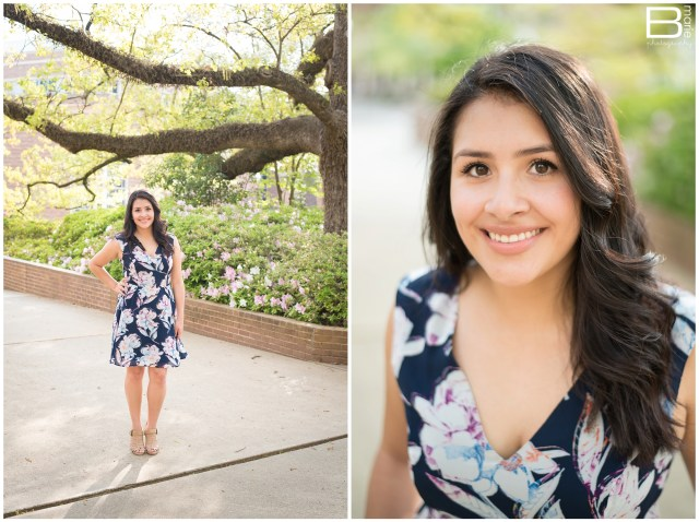 Nacogdoches photographer Spring senior portrait session on SFA campus