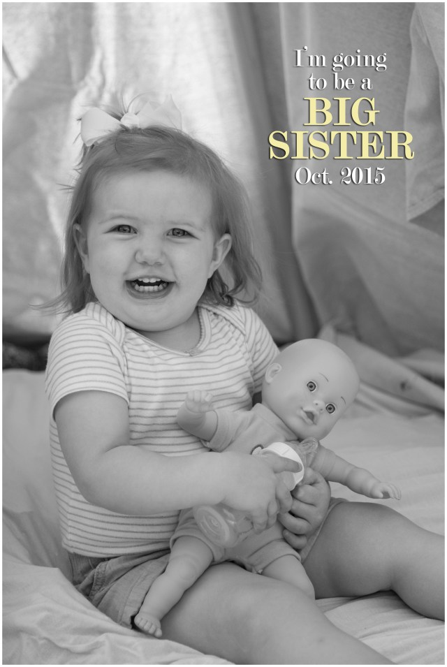 Nacogdoches photographer's daughter is excited to announce she'll be a big sister
