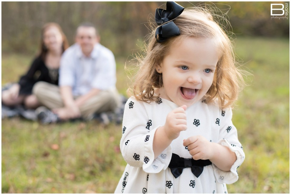 Nacogdoches photographer family portrait session in evening lit field with fall colors