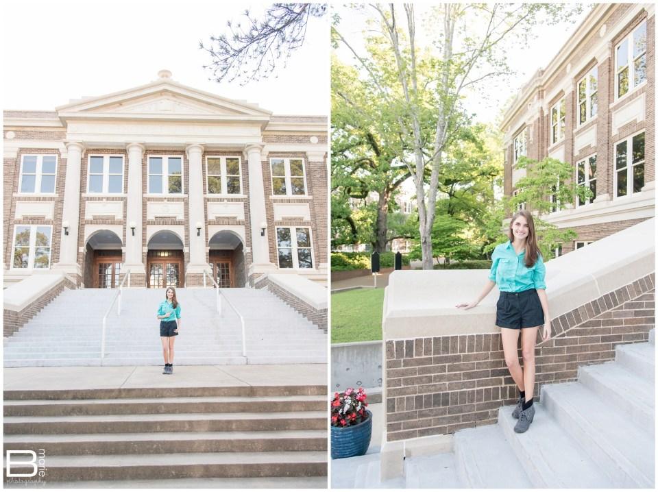 Nacogdoches photographer images of springtime senior portrait shoot for SFA graduate