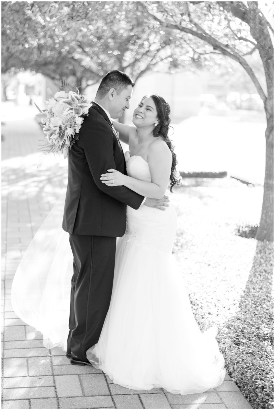 Houston wedding photographer fall Sacred Heart Co-Cathedral wedding and The Whitehall reception