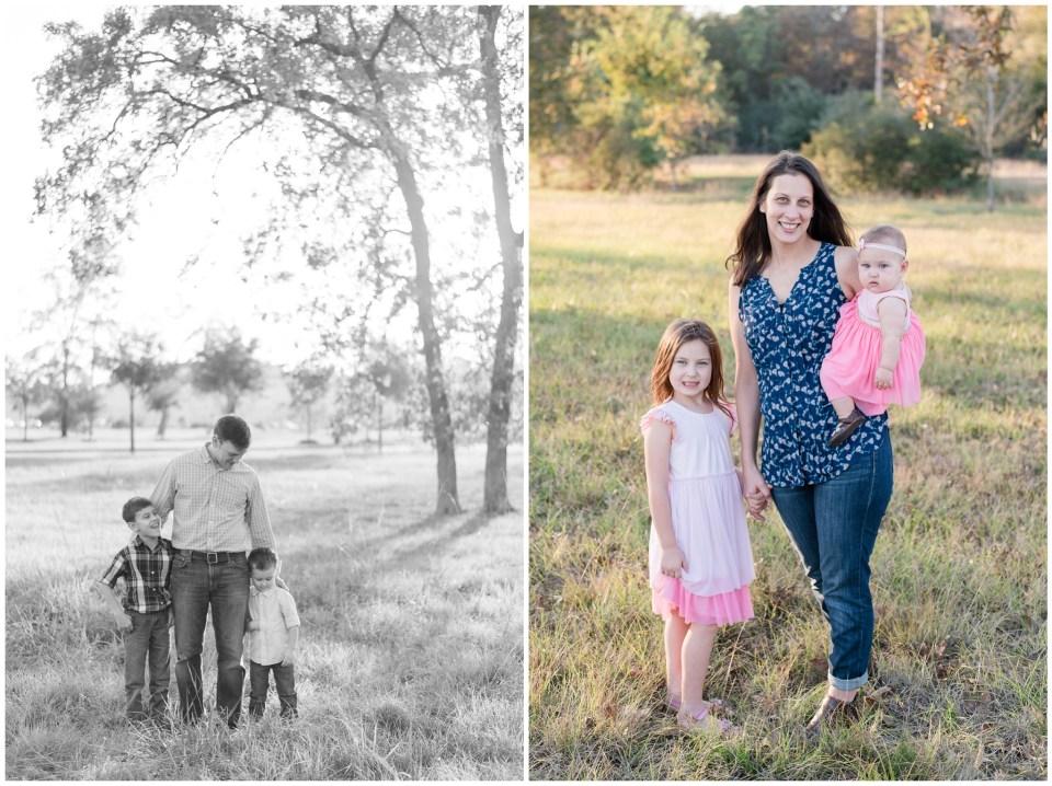 Kingwood family photographer - fall family portrait session in Kingwood