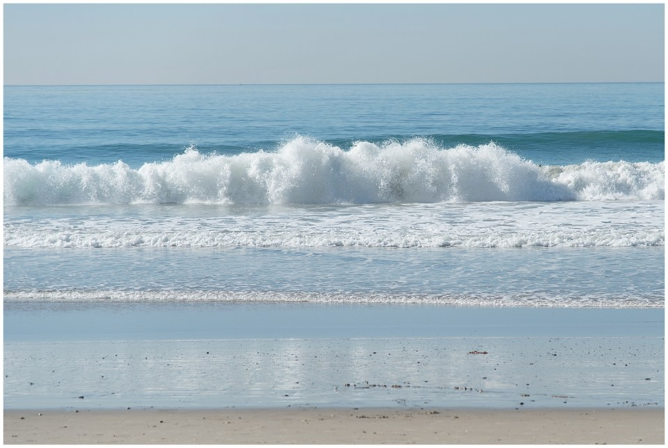 Kingwood photographer image of waves on San Clemente beach