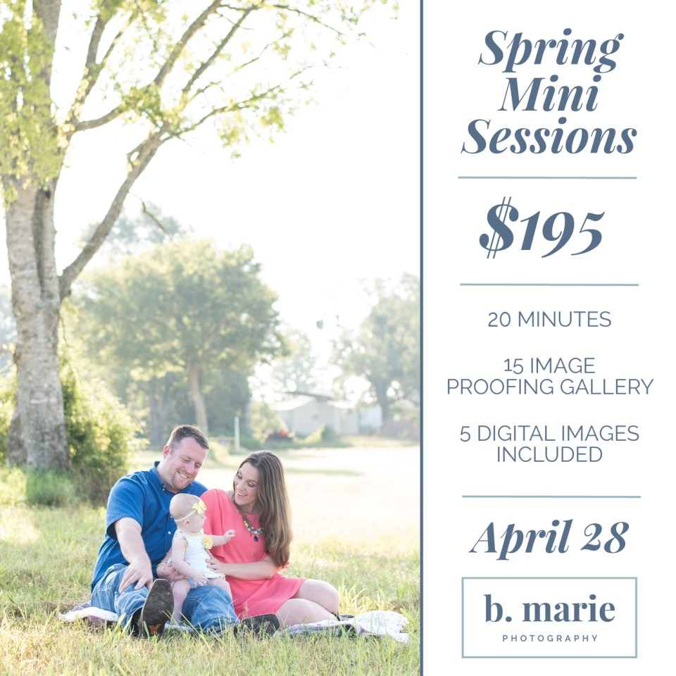 Kingwood photographer offering spring mini sessions on April 28