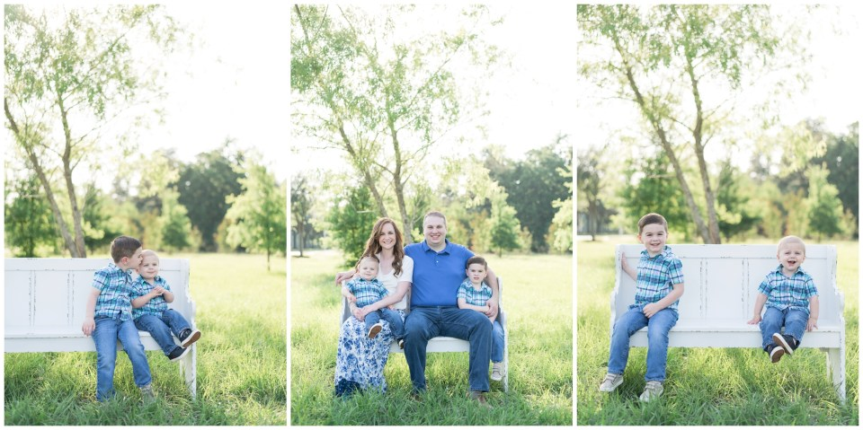 Kingwood family photographer early morning spring family portrait mini session