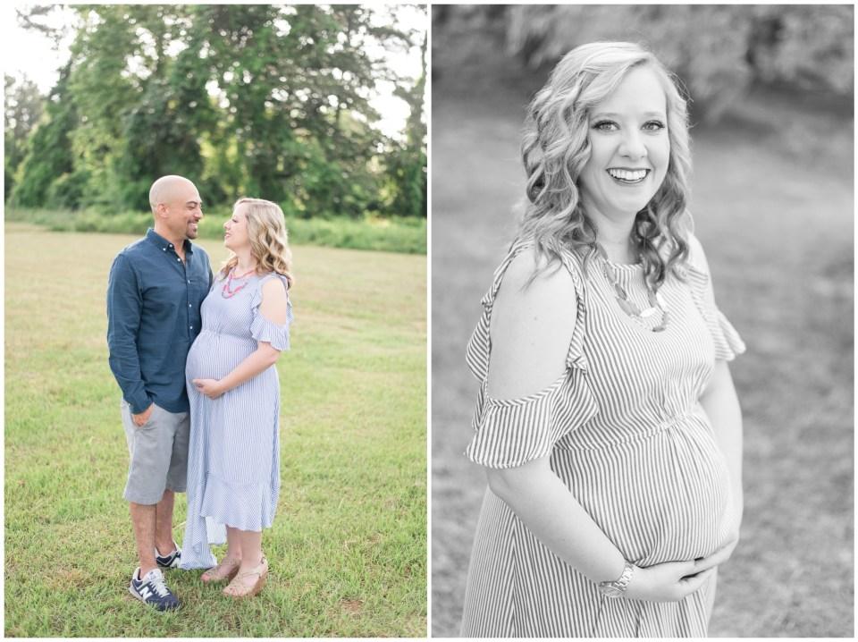 Houston family photographer - early morning maternity portrait session