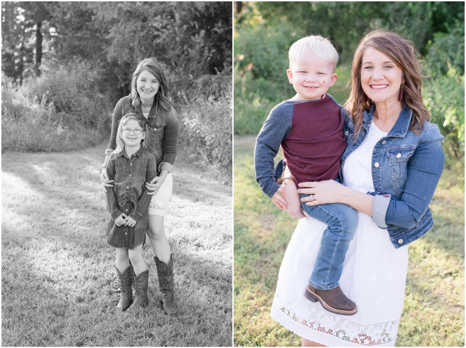 Kingwood photographer's fall mini sessions with family of four