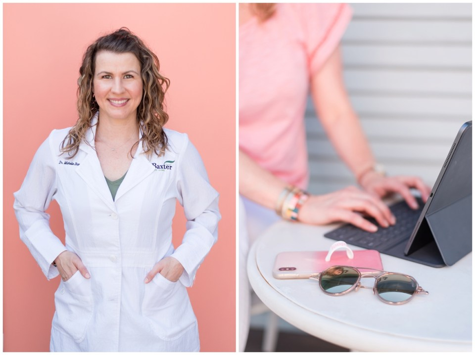 Houston brand photographer's session with Dr. Michelle Shosa, Houston eye doctor & Beautycounter leader