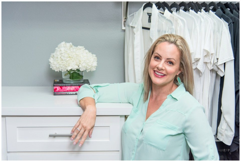 Houston Brand Photographer's session with professional organizer in home and closet