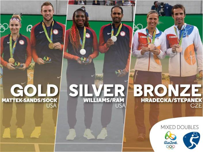 gold and silver for team usa tennis