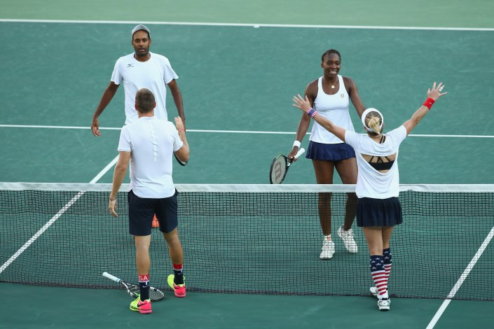 mattek-sands, sock, williams_rio 2016 Olympics: Tennis, Day 9