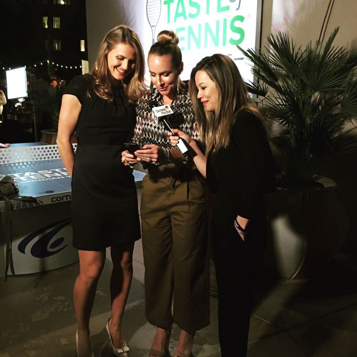 mattek-sands and safarova at taste of tennis event