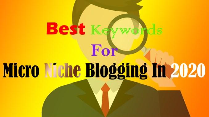 Microniche Blogging Course 2020