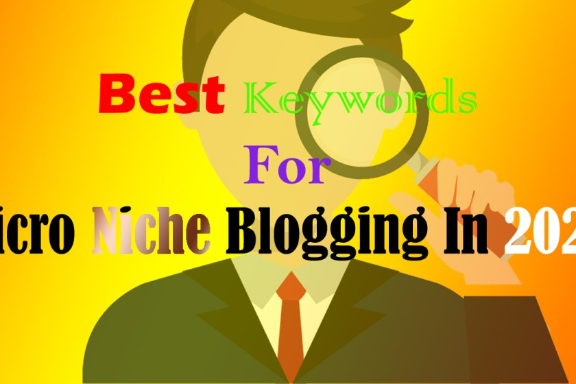 Best Keywords For Micro Niche Blogging 2020 – Microniche Blogging Keywords Ideas