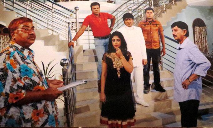 shooting of bangla film bojhe na se bojhe na