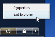 Restart explorer