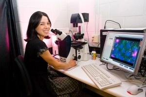 Dr. Millie Sullivan working in her lab