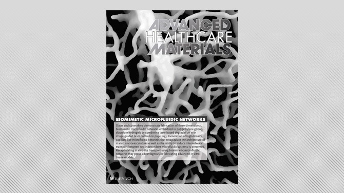 BME's Slater lab featured in Advance Healthcare Materials