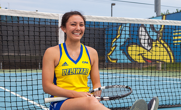 Amanda Studnicki puts Delaware First on the court and in the world