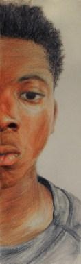 Dashaun Simon, (Self Portrait) Drawing and Illustration-Honorable Mention