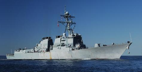 us navy ddg 51 aegis class destroyer at sea