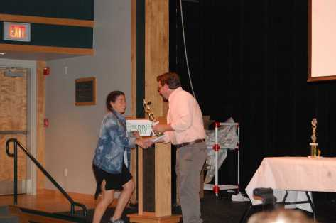 Enna Spivak wins Coach's Award for V. Tennis