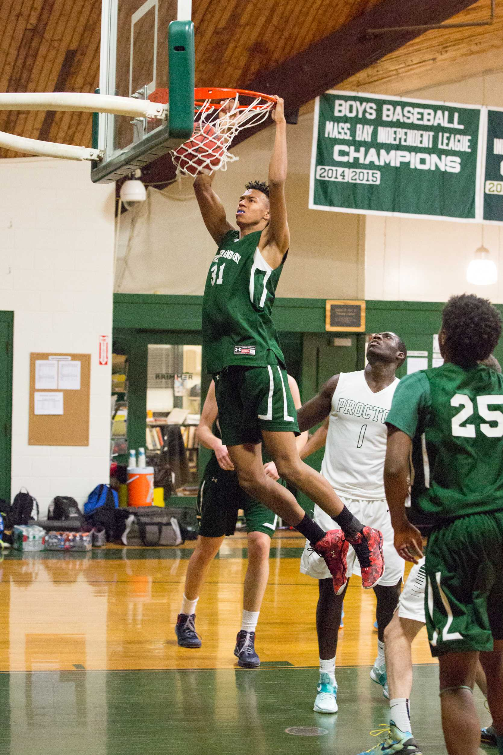 Photo by David Barron: Isaiah Fontaine '16 makes it look easy.
