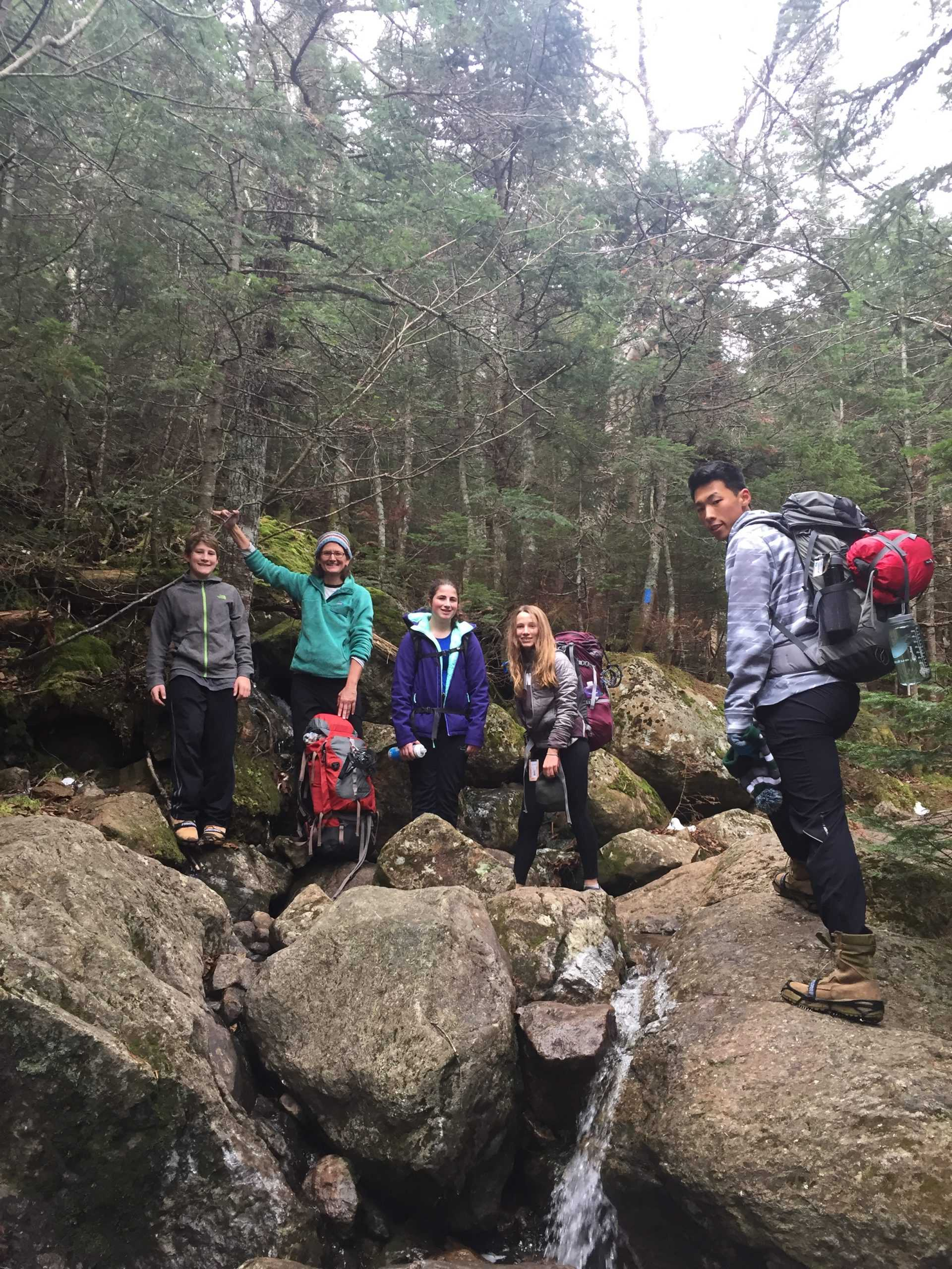 Students+enjoyed+hiking+in+the+White+Mountains.+