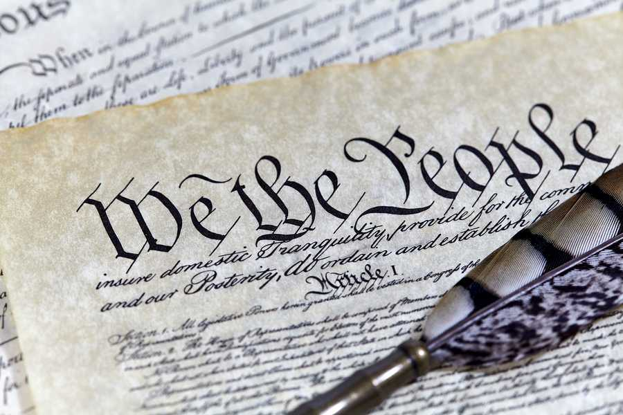 US+Constitution+Declaration+of+Independence+Bill+of+Rights+with+a+Quill+pen+and+shallow+depth+of+field