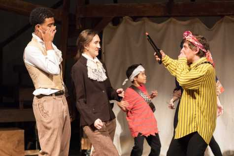 Sumner School students perform in the fall Upper School production of 'Candide.' Photo by Bill Jacob.