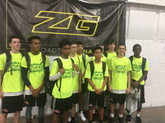 Tal Breiman '21 with his AAU basketball team after winning the championship. Photo courtesy of Tal Breiman.