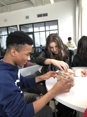 Miles Best '20 and Sonya Ewing '20 use the building blocks to foster innovation.