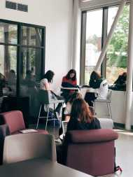 Students at work in the Innovation Space.