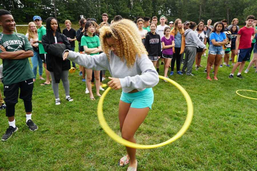 Sade Latinwo '19 showing off her skill. Photo by David Cutler.