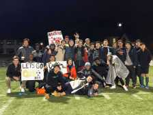 Student and alumni show school spirit after the game. Ramin Khorasani (P '20).