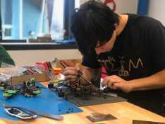 Mark Donato working in the STEAM lab. Photo By Sita Alomran '19.