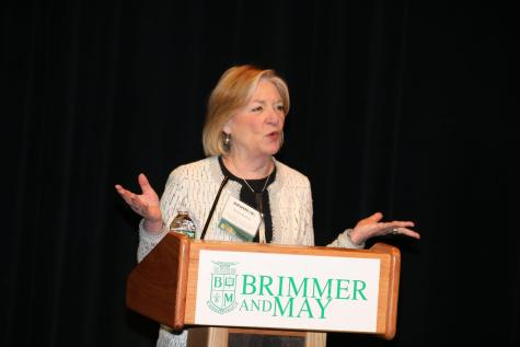 """Titled """"The Future and Function of News,"""" last year's event was kicked off by a passionate talk from media critic and Best the Press host Emily Rooney. Gator file photo."""