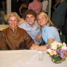 Cindy Pendergast poses with her children, Andrew and Emily '04, for Emily's senior dinner. Gator file photo.