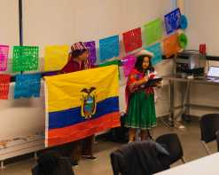Nydia Comenzo '27 tells about her Ecuadorian heritage.