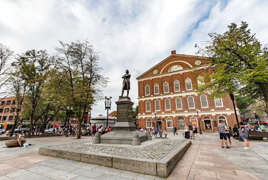 Statue of American Patriot Samuel Adams at Faneuil Hall in Boston. Photo purchased from BigStock.com.