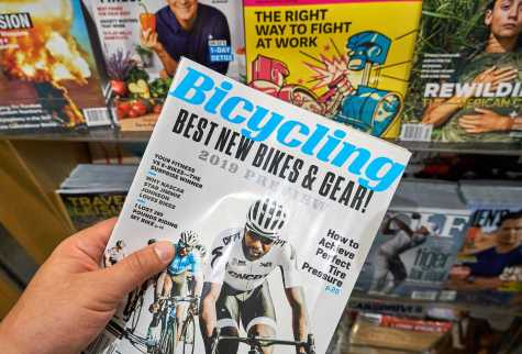 Bicycling magazine is a popular cycling brand published by Hearst. Photo purchased by BigStock.com.