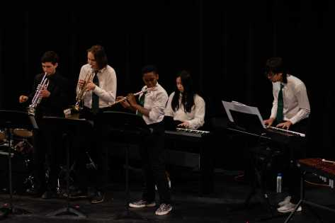 "The Upper School Band performs the ""Mii Shop Theme"" by Kazumi Karino."