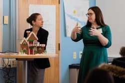"""Shannon Beale and Elizabeth Mahoney discuss the benefits of solar panels in """"Solar Energy in the Commonwealth""""."""