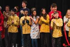 "Mandarin students sing ""Guoxi Guoxi""."