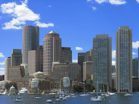 The Boston skyline.  Creative Commons from Wikipedia, Sharealike License.