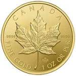 Buy gold, silver, platinum bars, coins - 2015 gold maple leaf coin