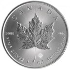 Buy gold, silver, platinum bars, coins - 2015 1 oz Silver Maple Leaf