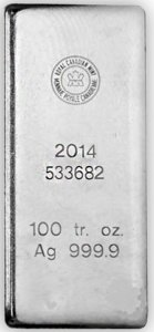 Silver in 100 oz bars | BMG Bullion Products