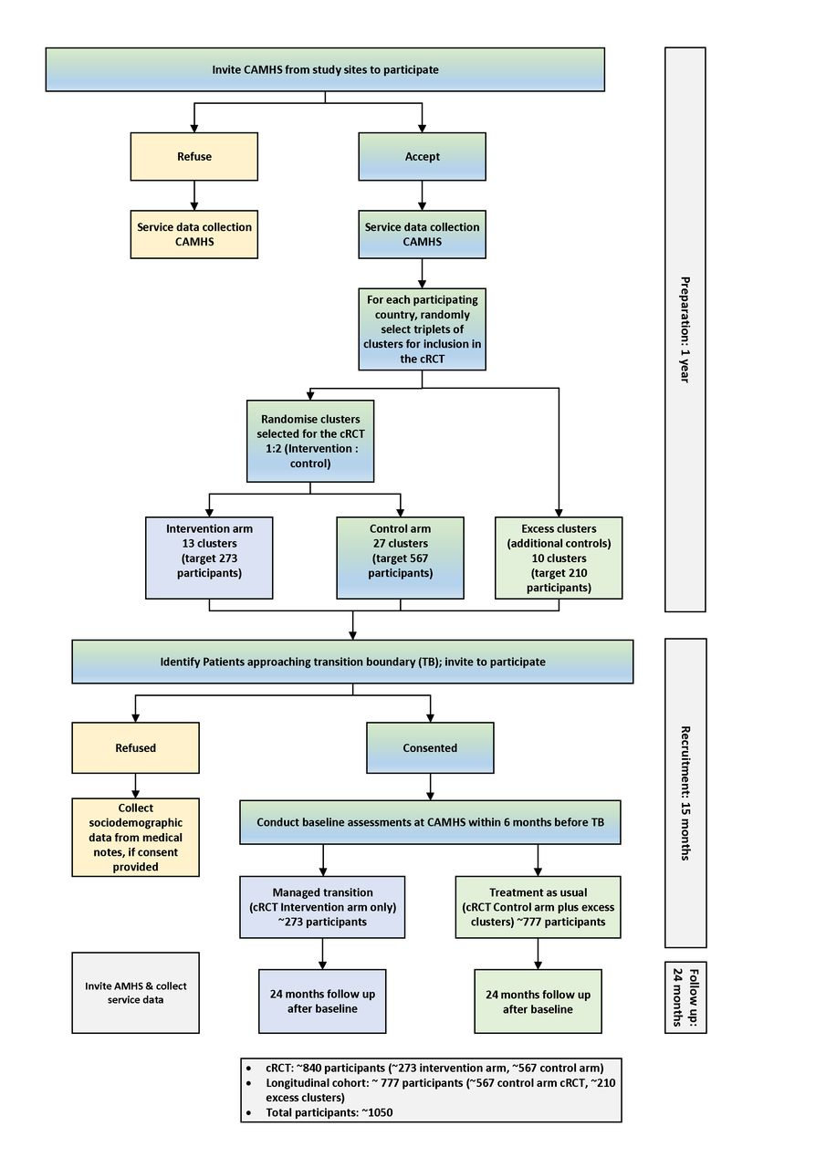 Protocol for a cohort study of adolescent mental health service users with a nested cluster