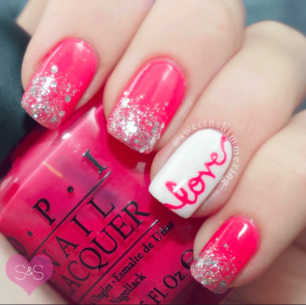 Pretty Nail Design For Valentine 2017